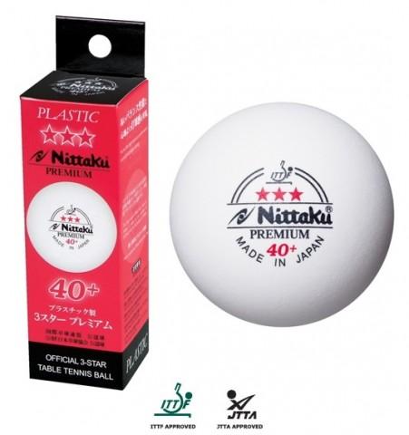 Nittaku 3 Star Premium 40 Plastic Table Tennis Balls