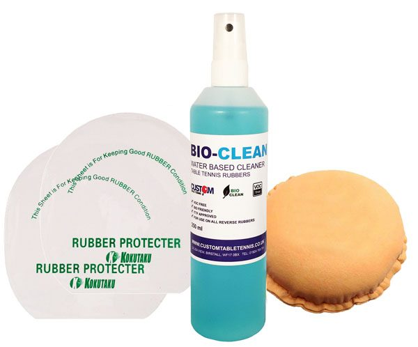 Bio Clean Custom Table Tennis Rubber Cleaning Kit