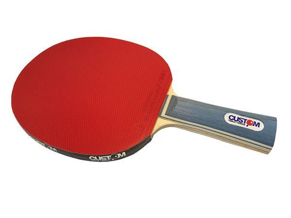 Custom Table Tennis Pro Blue Carbon Offensive Bat