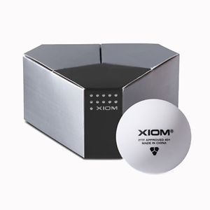 72 XIOM 3 Star ITTF Approved Seamless Poly Ball Table Tennis Balls