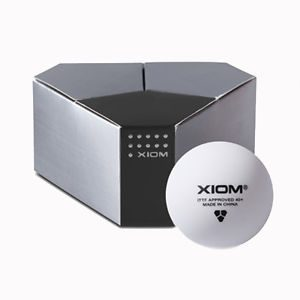 6 XIOM 3 Star ITTF Approved Seamless Poly Ball Table Tennis Balls