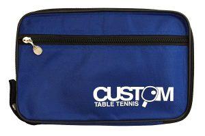 Custom Table Tennis Blue Streamline Single Bat Case