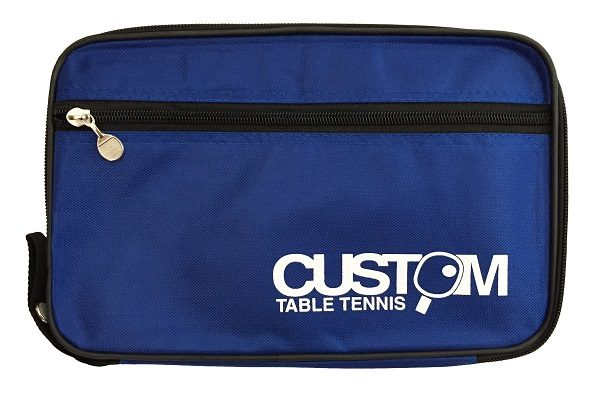 Custom Table Tennis Blue Streamline Single Bat Case