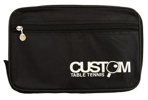 Custom Table Tennis Black Streamline Single Bat Case
