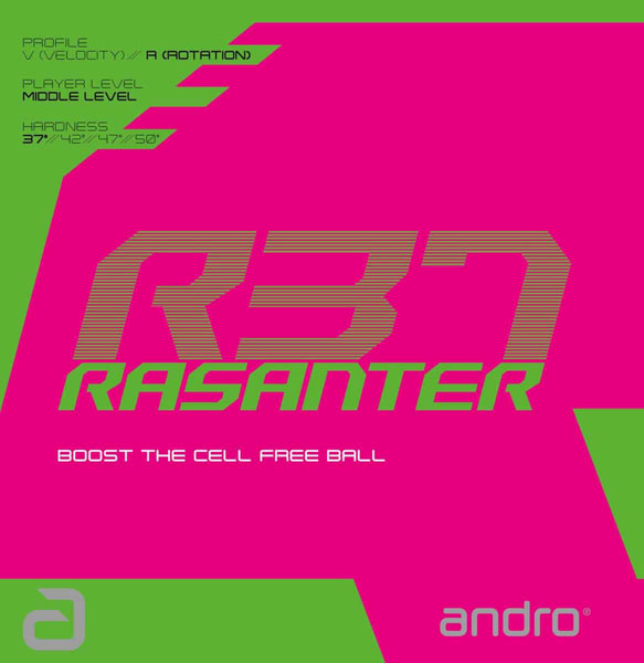 Andro Rasanter R37 Table Tennis Rubber