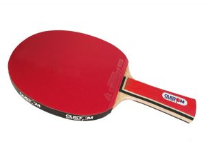 Custom Table Tennis Red Intermediate Table Tennis Bat