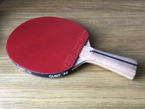 Wood Nut Hand Made Ako Antiaris Allround with Xiom Vega Euro DF Table Tennis Bat