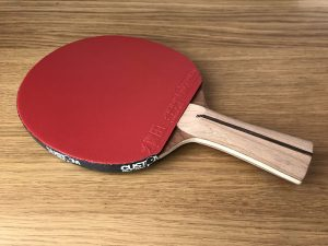 Wood Nut Hand Made Mahogany Offensive with Xiom Vega Euro DF Table Tennis Bat