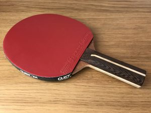 Wood Nut Hand Made Combi Offensive with Xiom Omega VII Euro EX DEMO Table Tennis Bat