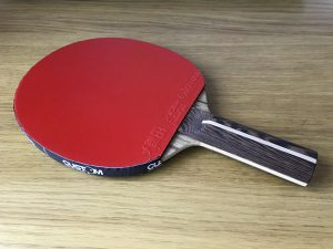 Wood Nut Hand Made Black Limba Allround with Xiom Vega Euro DF EX DEMO Table Tennis Bat