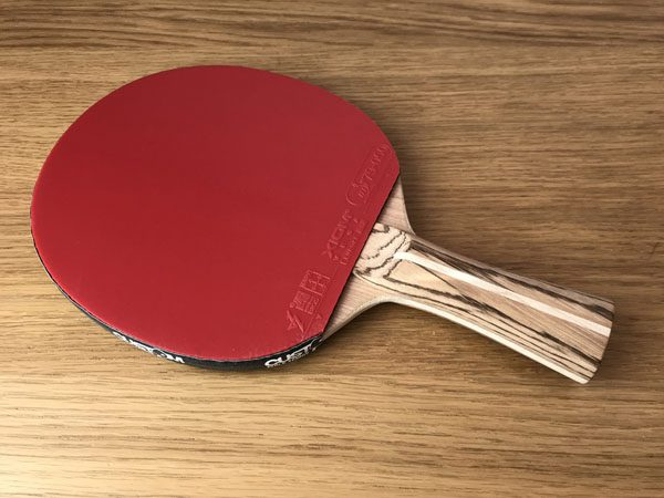 Wood Nut Hand Made Cherry Offensive- with Xiom Vega Euro DF Table Tennis Bat