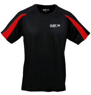 CUSTOM TABLE TENNIS PRO MATCH SHIRT BLACK / RED - KIDS