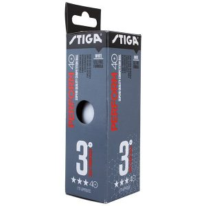 Stiga Perform Plastic Ball 3 Star White Table Tennis Balls