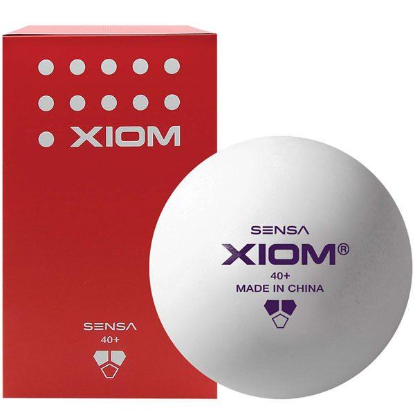 100 XIOM SENSA Life Time+ Practice Training ABS Poly Table Tennis Balls