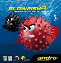 Andro Blowfish Plus Short Pimple Table Tennis Rubber