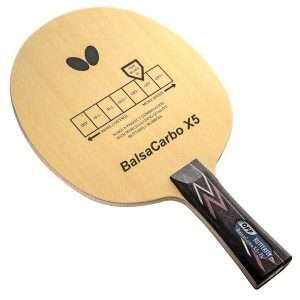 Butterfly Balsa Carbo X5 Offensive Table Tennis Blade